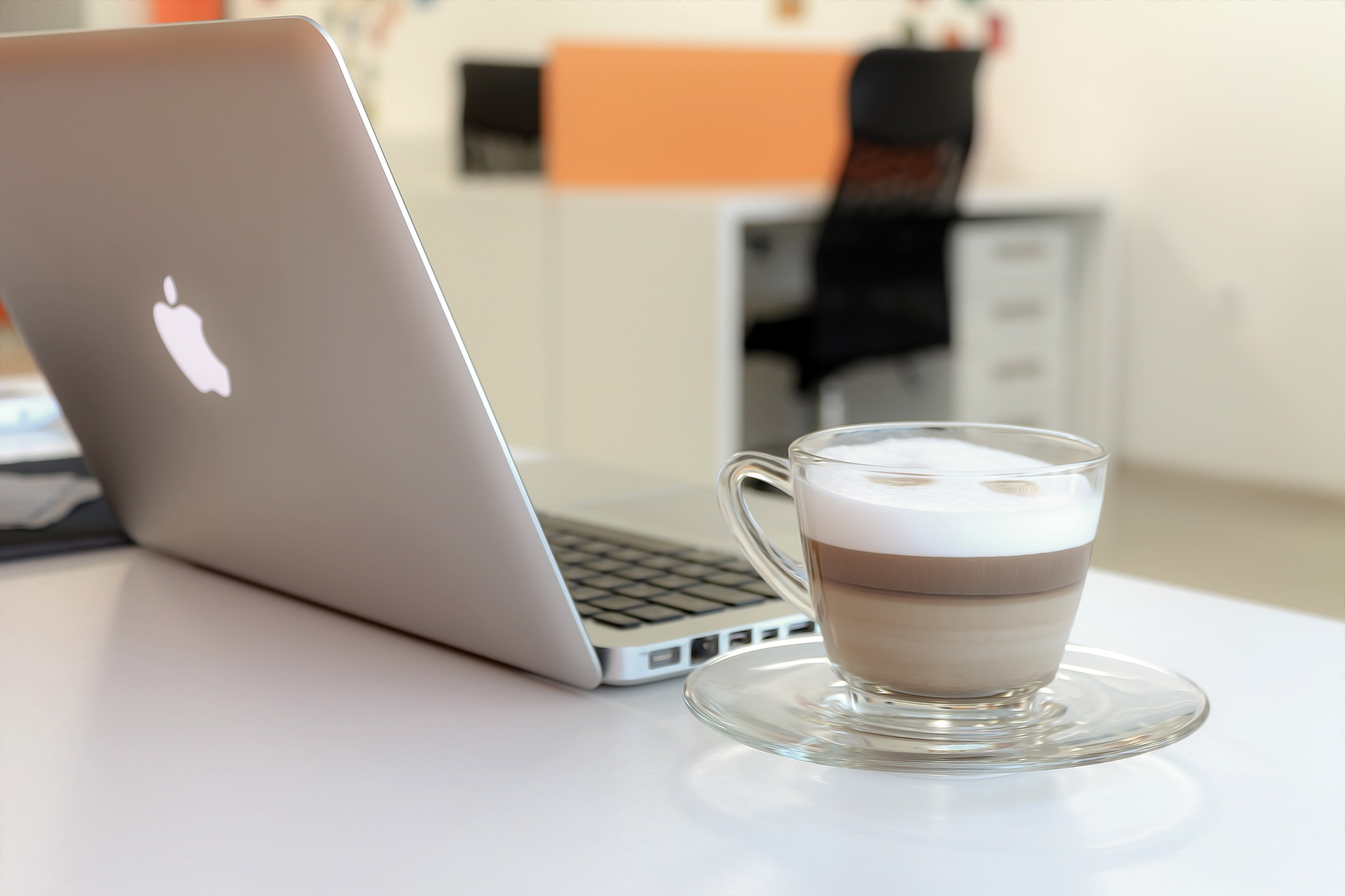 Macbook with Cappuccino
