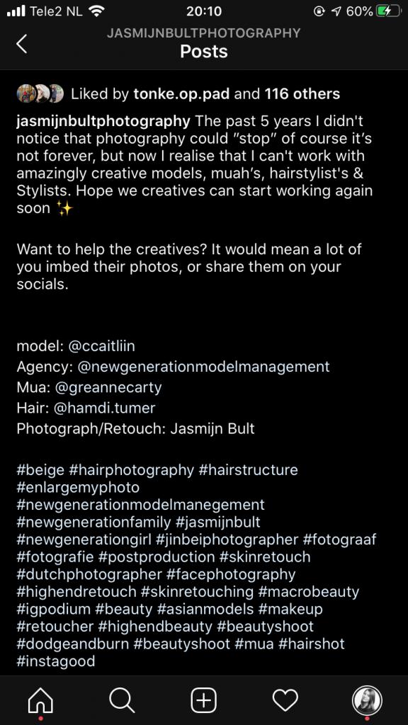 Voorbeeldpagina met Hashtags