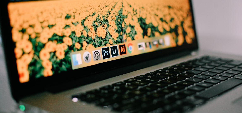 Laptop met adobe progamma's